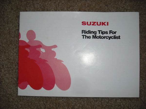 Suzuki Riding Tips Brochure 1978