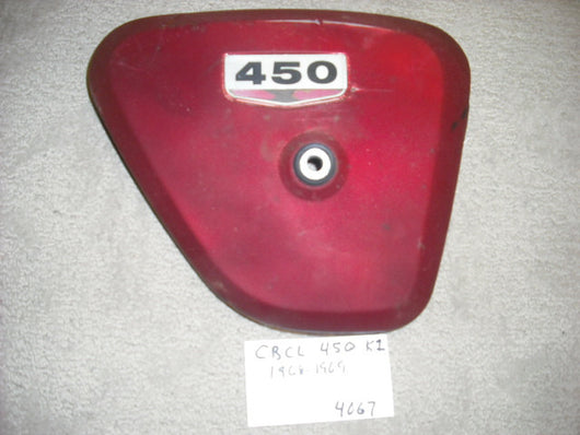 Honda CB CL450K1 Right Red  Sidecover