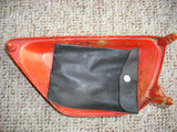 Honda XR75 1979  red left sidecover