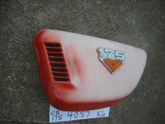 Honda CB175K6  sidecover left with badge sku 4057