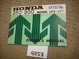 Honda CA  C72 C77 250 300 NOS Dream Manual 4058