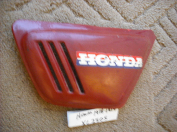 Honda XL250 1978 1979  83600-428-0000 Right Sidecover red num 2