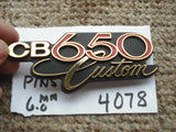 Honda CB 650 Custom Sidecover Badge
