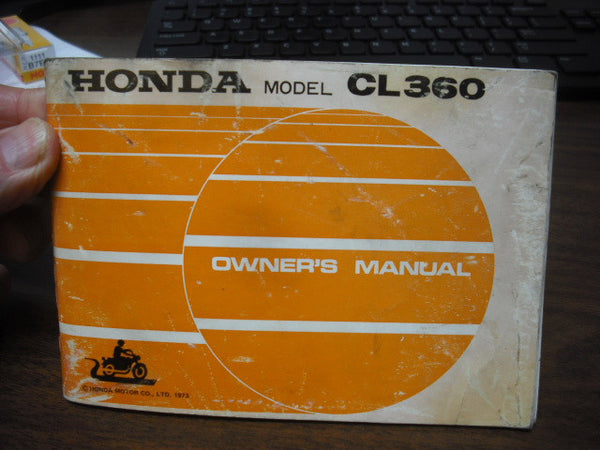 Honda CL360 1973 Manual with original bag 4090
