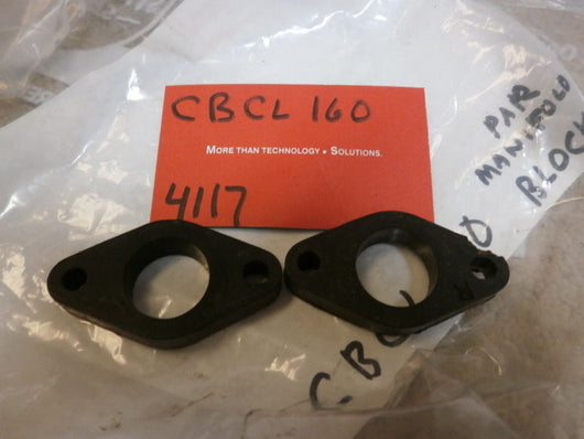 Honda CB CL160 Carburetor Manifold Block Pair 4117