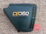 Honda CB360 rt Hex Green metallic sidecover with badge 4125