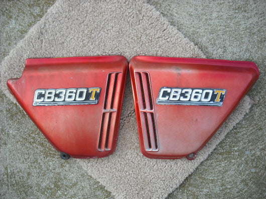 Honda CB360 Sidecover Pair Ruby Red
