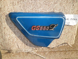 Suzuki GS550L rt blue sidecover with badge 47200-R sku 4110