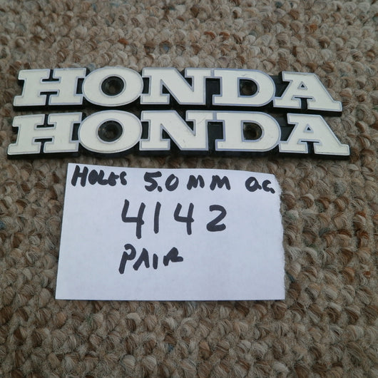 Honda CB CL 350 Gas Tank  badge pair white