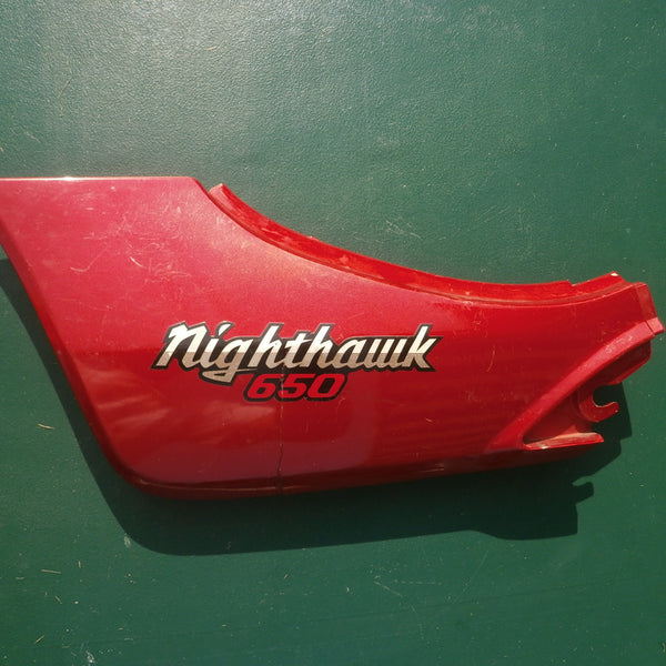 Honda CB650SC Nighthawk sidecover red left 83710-ME5-0200 sku 4186