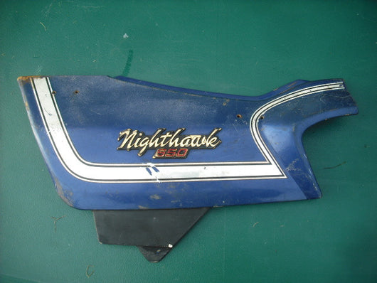 Sold Honda 650 Nighthawk Blue left  Sidecover 8663A-460P-8400