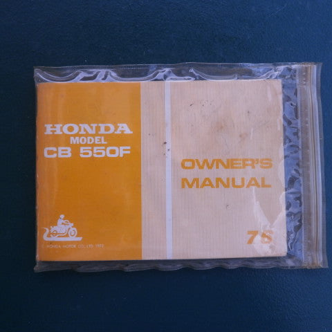Honda CB550 Four Original Manual with wiring diagram 4175