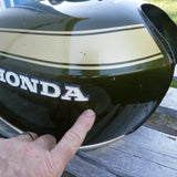 Sold Honda CB450 Gas Tank 1972 Candy Baccus Olive
