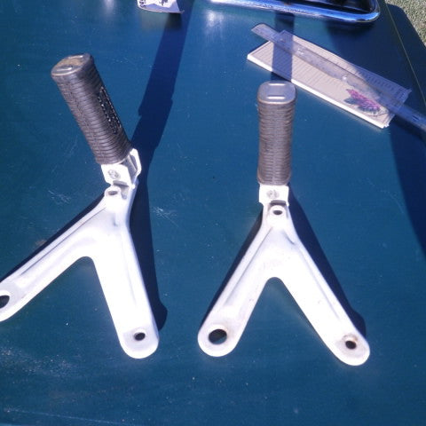 Sold Honda CB CL160 white Rear Footpeg  mount plus pegs