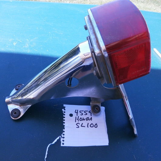 Sold Honda SL100 Tail Light w/ License Plate Bracket