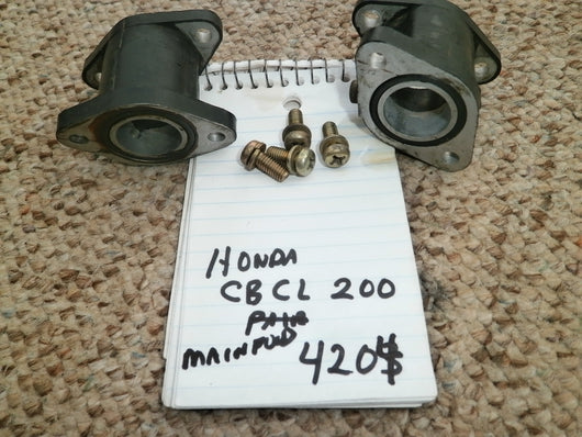 Sold Honda CB200 CL200 Carburetor Manifold Pair