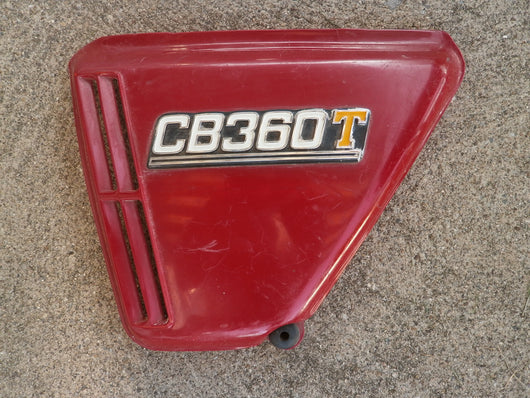 Sold Honda CB360T Left Red Sidecover 4208