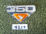 Honda CB350 CL350 K4 Right Sidecover Badge 4219