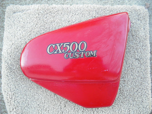 Honda CX500 Custom Sidecover  Right Red 83500  sku1635
