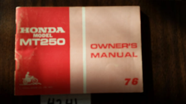 Honda MT250K2 1976 manual