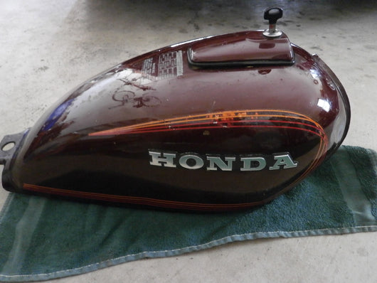 Honda CM400 Gas Tank Candy Presto Red  4217