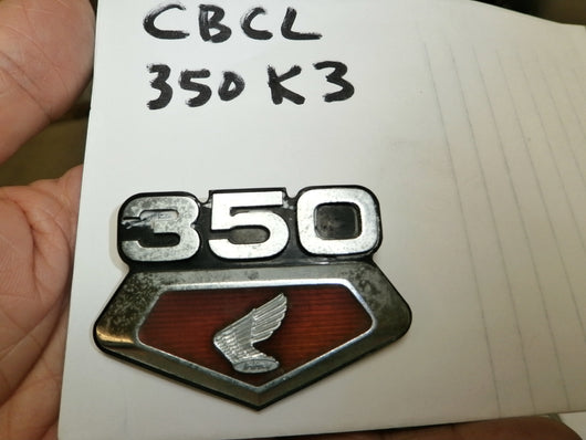 Honda CB350K3 CL350K3 Sidecover Badge  4268