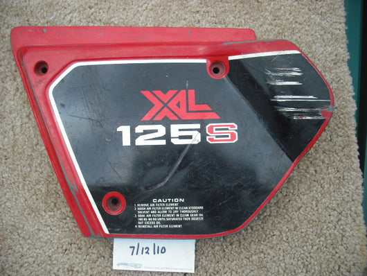 Honda XL125S sidecover left  1981 sku 1637