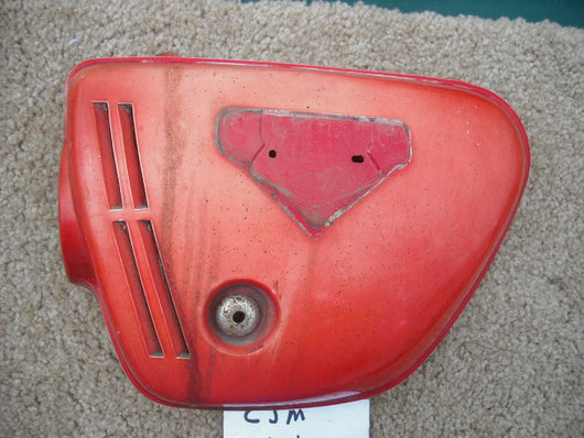 Used in Restoration CB350 Galloway Gone Honda CB350K4 Red Left Sidecover 1653