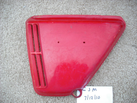 Sold Honda CB360 Red Left Sidecover