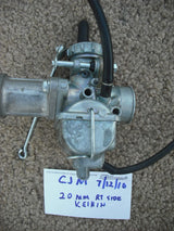 Sold by invoiceHonda CB175 20mm Rt side Keihin Carburetor NOS New