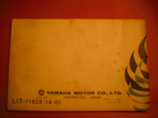 Yamaha CT3 175 1972 Owners Manual 314-28199-11