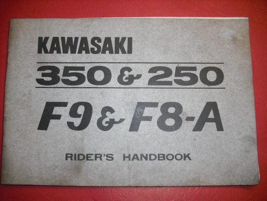 Kawasaki F8A F9 Owners Manual