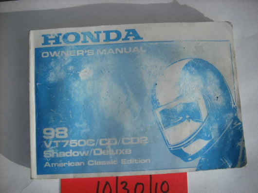 Honda VT750C 1978Shadow Deluxe Owners Manual