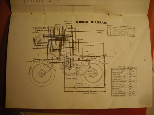 yamaha at2 125 owners manual part 316 28199 10 sku 1810 rh classicjapanesemotorcycles com Yamaha 90 Outboard Wiring Diagram Yamaha XS1100 Wiring-Diagram