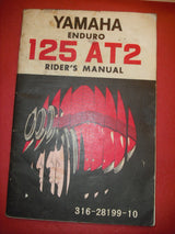 Yamaha AT2 125 Owners Manual part 316-28199-10 sku 1810