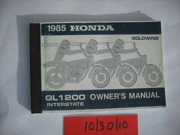 Honda GL1200 1985 Owners Manual 1817