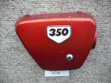 Honda CB350 red Right Sidecover 1848