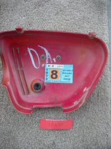 Honda CL350 1973 Right Sidecover Red