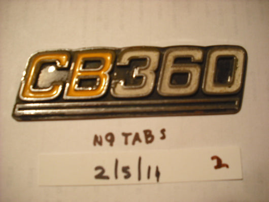 Honda CB360 Sidecover Badge  no tabs 1873