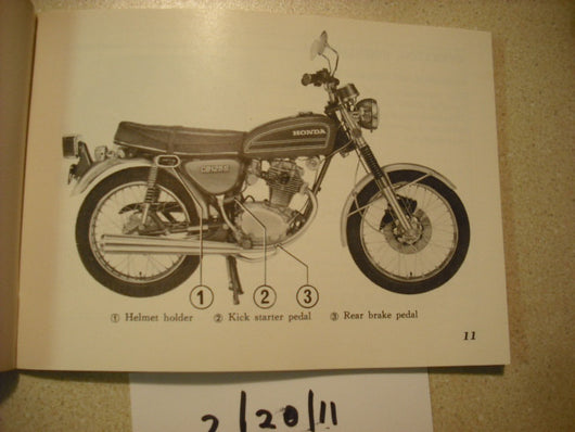 Honda CB125S2 1975 Owners Manual