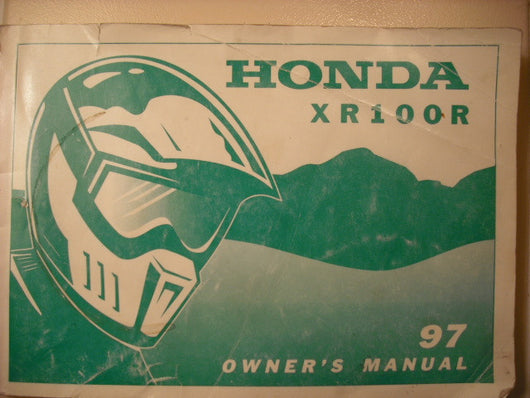 Honda XR100R 1997 Manual