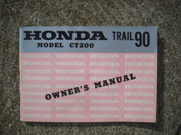 Honda Trail 90 CT200 Manual 1832