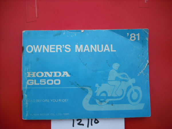 Honda GL500 1981 Manual