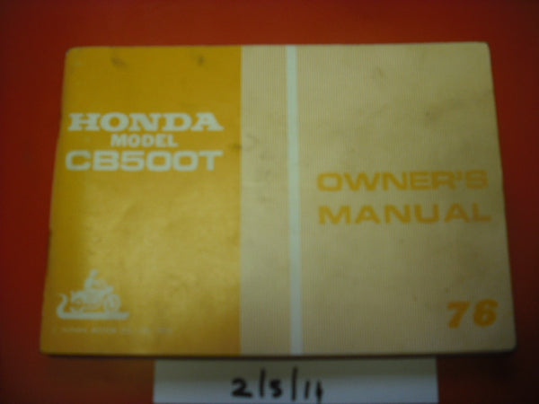 Honda CB500T 1976 Owners Manual 1867