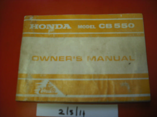 Honda CB550 K1 Owners Manual