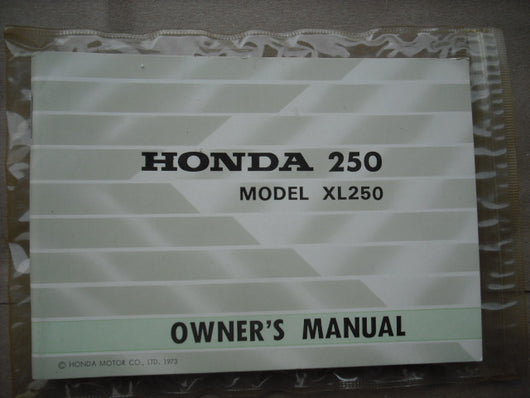 Honda XL250K0 Owners Manual Mint Condition 1840