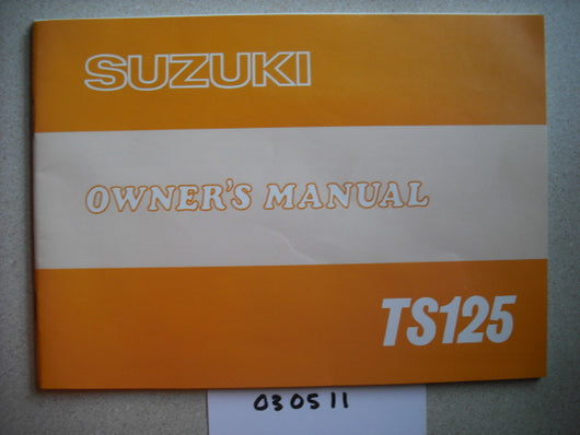 Suzuki TS125 1978 Owners Manual also Riding Guide 1883