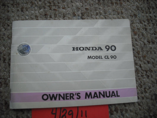 Honda 1967 CL90 Manual