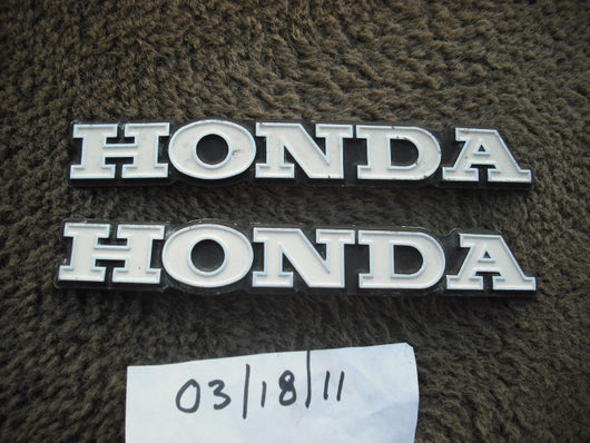 Honda CL350 K4 K5 Gas Tank Badge Pair Stamped Code 345