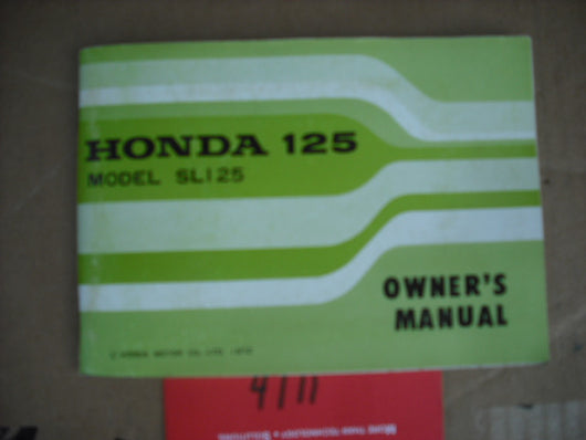 Honda SL125K2 1973 Owners Manual 1909